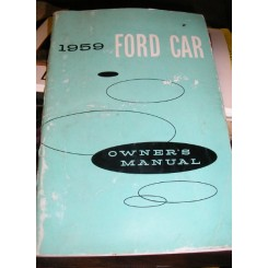 1959 Ford Cars Owners Manual