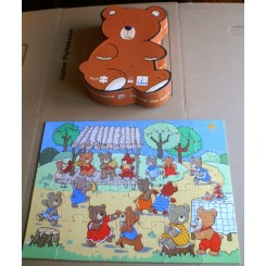 Djeco Puslespil m. bamse