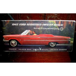 Original Owners manual, Ford Galaxie 1963